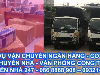Dịch vụ vận chuyển - chuyển dọn đồ đạc - máy móc - tài liệu - thiết bị cho ngân hàng TPHCM