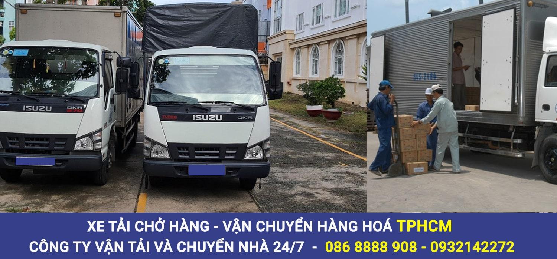 Cho thuê xe tải chở hàng Quận 7【Vận chuyển hàng hoá Quận 7】
