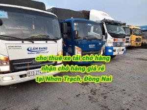dịch vụ cho thuê xe tải chở hàng nhơn trạch